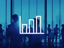 Bar Graph Marketing Analyzing Growth Increase Concept.  Royalty Free Stock Images