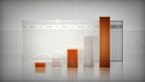 Bar Graph Orange stock video footage