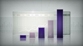 Bar Graph Purple stock footage