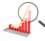Bar graph representing future real estate trends Royalty Free Stock Images