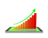 Bar Graph. Rising Bar Graph 3d render Stock Photography