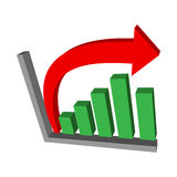 Bar Graph. A vector icon of a financial or business bar graph Stock Photo