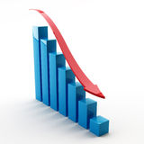 Graph. Bar graph on white background Royalty Free Stock Photo