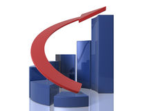 Bar graphs - Ascensing - circular Stock Photos