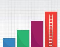 Bar Graphs Ladder Stock Photography