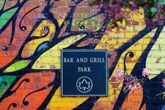 Bar and Grill Park Stock Images