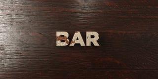 Bar - grungy houten krantekop op Esdoorn - 3D teruggegeven royalty vrij voorraadbeeld Royalty-vrije Stock Foto's