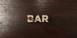 Bar - grungy wooden headline on Maple  - 3D rendered royalty free stock image Royalty Free Stock Photos