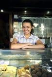 bar happy owner snack Στοκ φωτογραφία με δικαίωμα ελεύθερης χρήσης