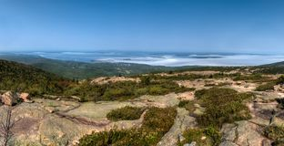 Bar Harbor From Atop Cadillac Mountain Royalty Free Stock Image