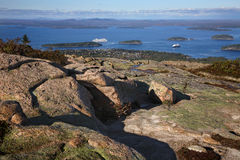 Bar Harbor From Cadillac Mountain Royalty Free Stock Images