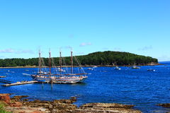 Bar Harbor Coastal Maine. At Acadia National Park Royalty Free Stock Photography