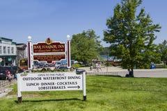 Bar Harbor entrance-Maine, USA Royalty Free Stock Image
