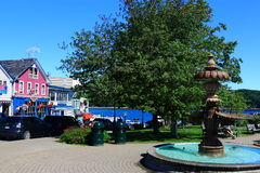Bar Harbor Main Street Agamont Park Royalty Free Stock Images