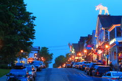 Bar Harbor Main Street Stock Image