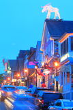 Bar Harbor Main Street twilight Royalty Free Stock Photo