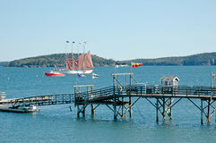Bar Harbor, Maine, port view. Royalty Free Stock Images