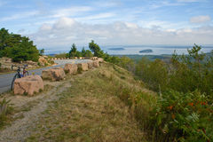 Bar Harbor overlook Royalty Free Stock Photos