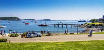 Bar Harbor panorama Stock Photography