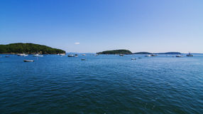 Bar Harbor panorama Royalty Free Stock Photo