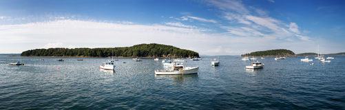 Bar Harbor panorama Royalty Free Stock Images