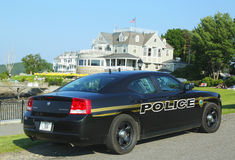 Bar Harbor Police Department car in Maine Royalty Free Stock Image