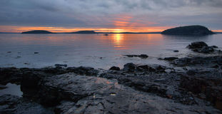 Bar Harbor Sunrise Stock Photo