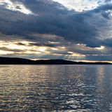 Bar Harbor at sunset, Maine Royalty Free Stock Photos