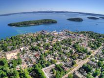 Bar Harbor is a Tourist Town on the Maine Coast by Acadia Nation royalty free stock photo