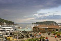 Bar Harbor waterfront Stock Photo