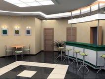 Bar in hotel vector illustration
