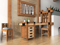 Bar in hotel Royalty Free Stock Photography