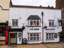 Bar i York, som är en walled stad som placeras på sammanflödet av floderna Ouse och Foss i North Yorkshire, England Arkivfoto
