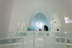 Bar in the ice hotel Royalty Free Stock Photos