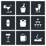 Bar icons set Stock Photos