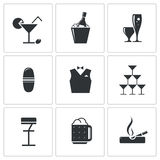 Bar icons set Royalty Free Stock Photography