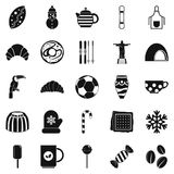 Bar icons set, simple style Stock Image