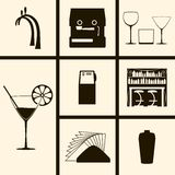 Bar Icons. Set of Icons on a theme Bar Stock Image