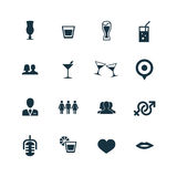 Bar icons set Royalty Free Stock Images