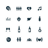 Bar icons set Stock Images