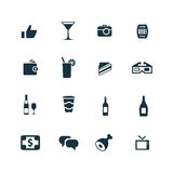 Bar icons set Royalty Free Stock Image