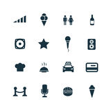 Bar icons set Royalty Free Stock Photography