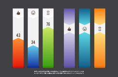 Bar Infographic Banners Stock Images