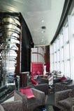 bar inre lyxigt modernt för hotell arkivbild
