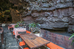 Bar inside a cave Stock Photography