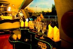 Bar inside modern limousine Stock Image