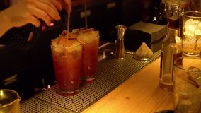 Bar inside Moskwa zbiory wideo