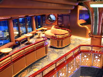 Bar interior. On cruise ship Royalty Free Stock Photography