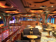 Bar interior. Bar on the modern cruise ship Stock Images