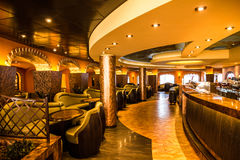 Bar interior on cruise liner Costa. Royalty Free Stock Image